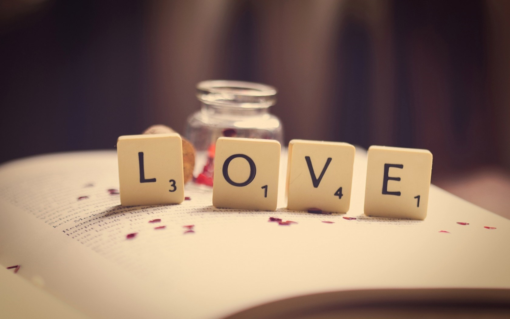 Charmant Book Love Word Letters Numbers Macro Hd Wallpaper.