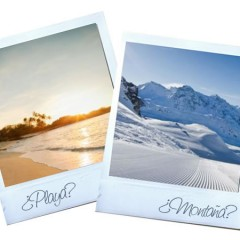 On holiday? Beach or mountains?
